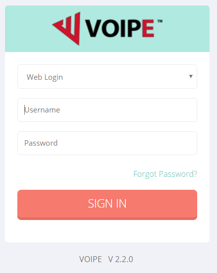 VOIPE Tenant User Guide